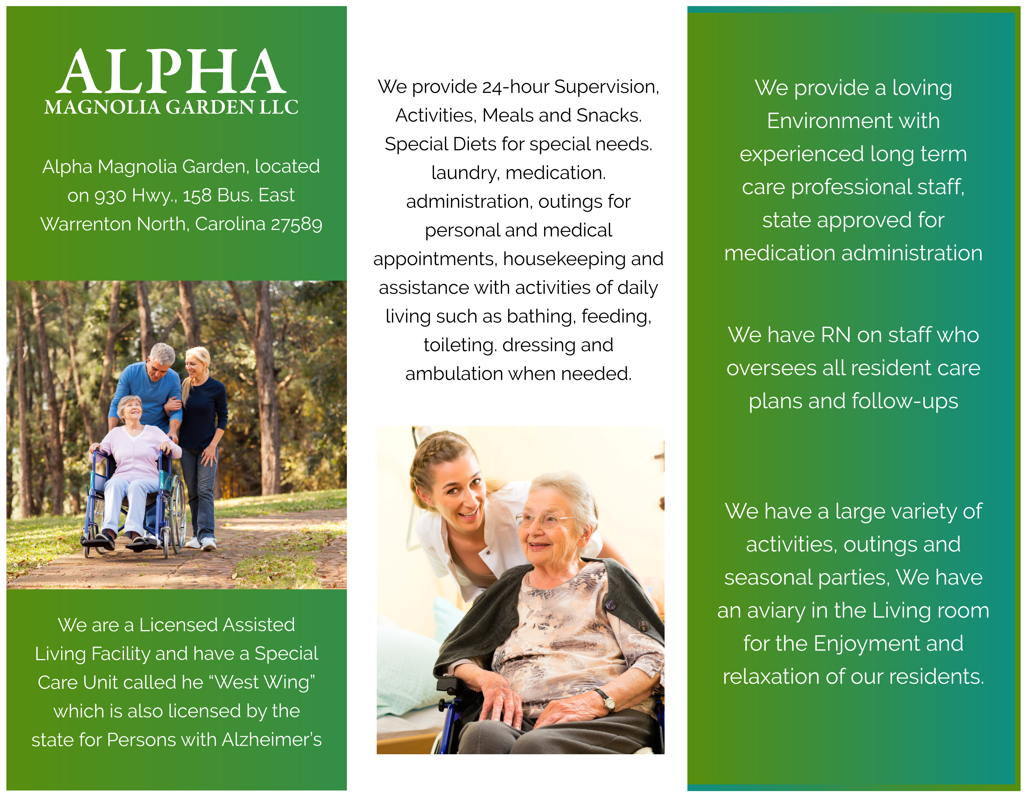 Alpha Magnolia Garden LLC Brochure
