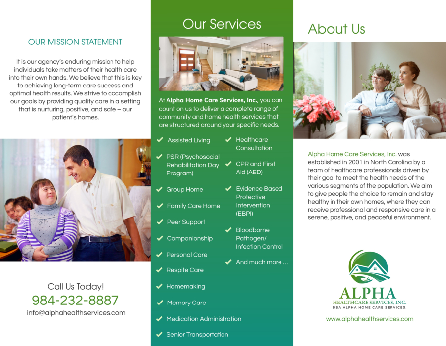 Alpha HealthCare Services Brochure