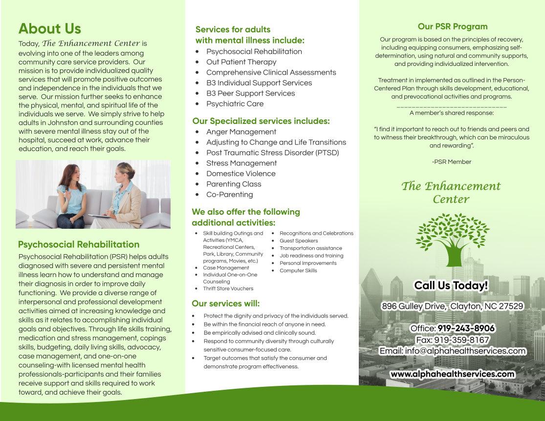 The Enhancement Center Inc. Brochure